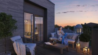 INOWOOD INSTALLED OUTDOOR TERRACE DECKING IN REMARKABLE APARTMENTS IN VILNIUS