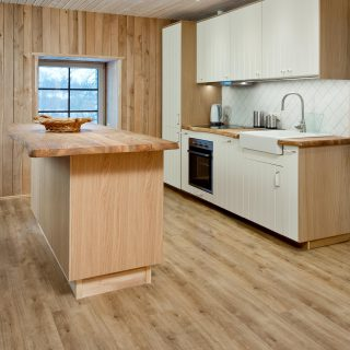 Modern floors in the kitchen