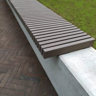 Bench made of wood-composite profile