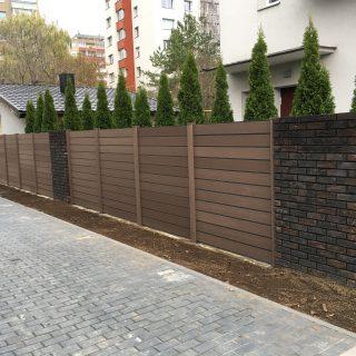 Fence of wood-plastic composite profiles