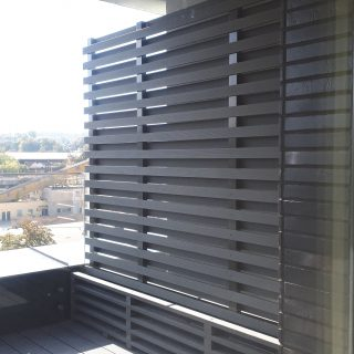 Balcony partitions from BIOcomposite profiles