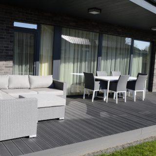 Spacious terrace near the house