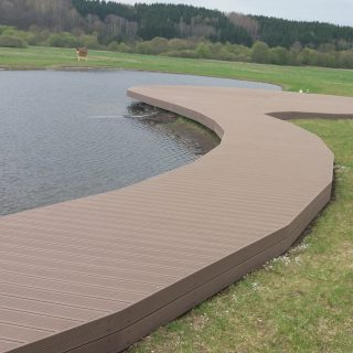 Curved terrace – made of biocomposite
